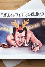YeaOh Greetings Die Hard Christmas Greeting Card