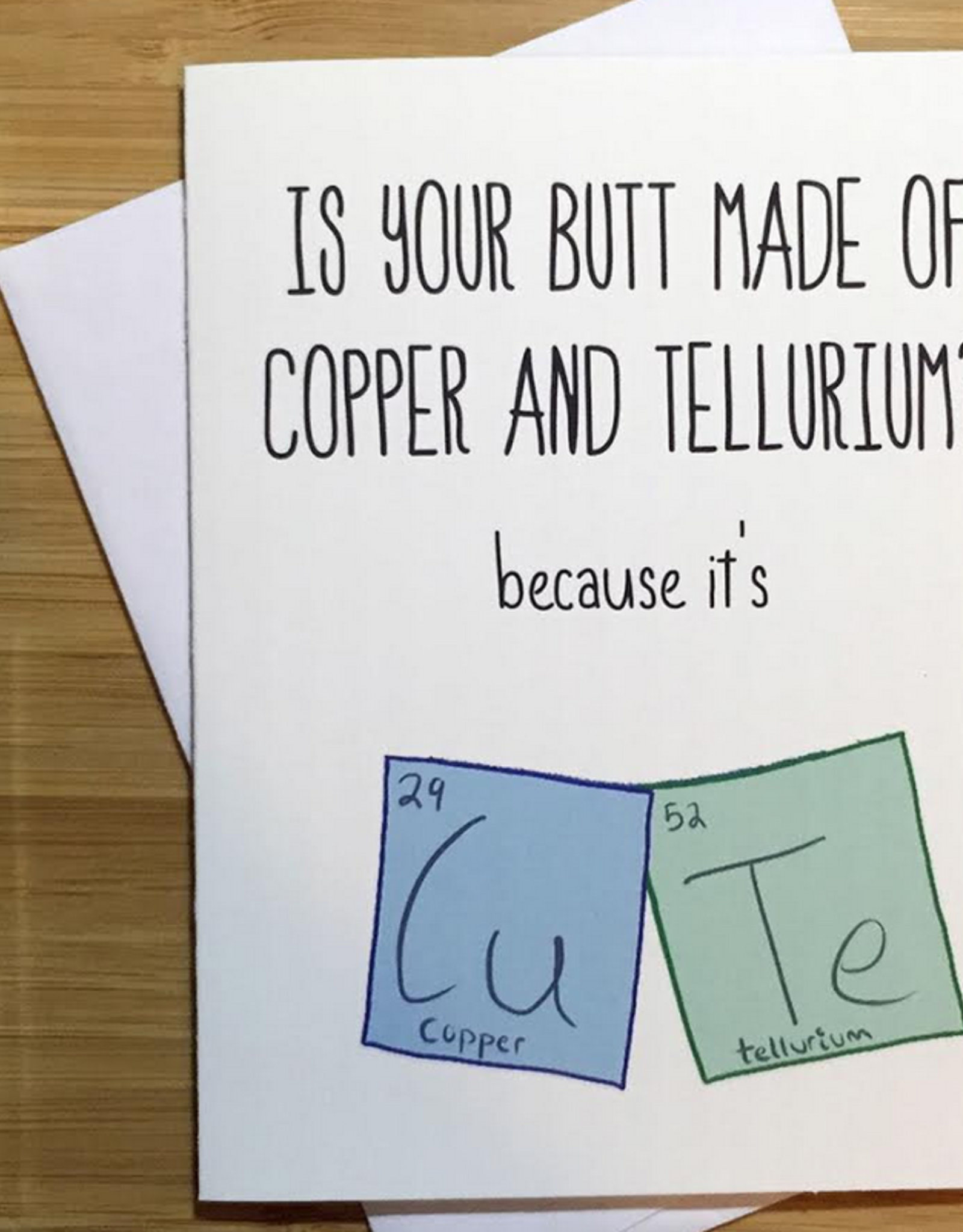 Periodic Table of Elements (CuTe) Love Greeting Card