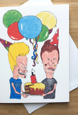 Beavis and Butthead Birthday Greeting Card
