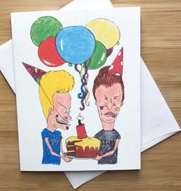 Beavis and Butthead Birthday Greeting Card