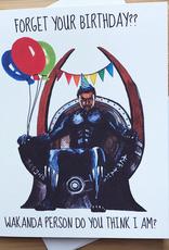 Wakanda (Black Panther) Birthday Greeting Card