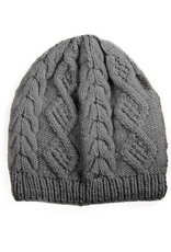 Merino Cable Knit Beanie (Grey)