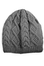 Padma Knits Merino Cable Knit Beanie (Grey)