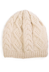 Padma Knits Merino Cable Knit Beanie (Cream)