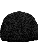 Daisy Crochet Beanie (Black)