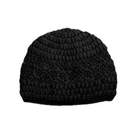 Padma Knits Daisy Crochet Beanie (Black)