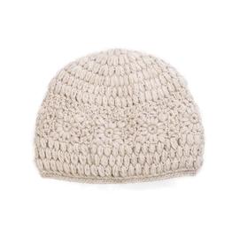 Padma Knits Daisy Crochet Beanie (Oatmeal)