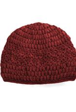 Padma Knits Daisy Crochet Beanie (Red)