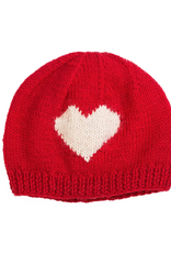 Wool Heart Kids Beanie (Red)