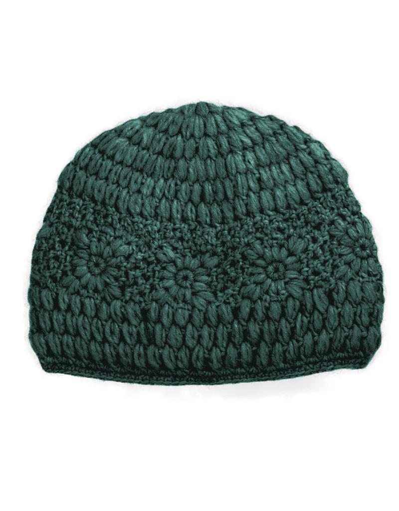 Padma Knits Daisy Crochet Beanie (Green)