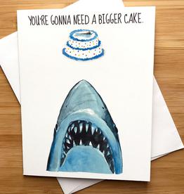 Need a Bigger Cake (Jaws) Birthday Greeting Card