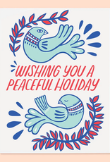 Wishing You a Peaceful Holiday Doves Greeting Card