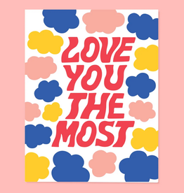 The Good Twin Co. Love You the Most Greeting Card