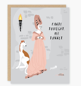 Party Tonight. My Turret. Greeting Card