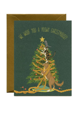 Meowy Christmouse Greeting Card