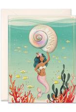 JooJoo Paper Mermaid Huge Thanks Greeting Card
