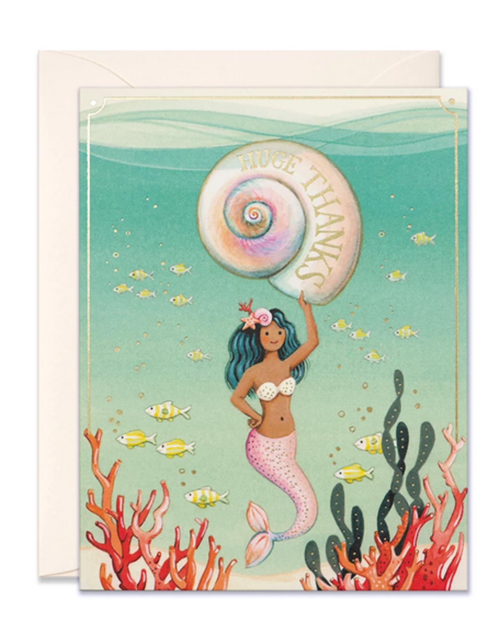 Mermaid Huge Thanks Greeting Card
