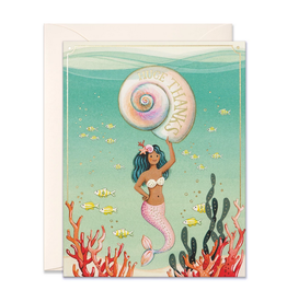 JooJoo Paper Mermaid Huge Thanks Greeting Card