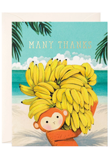 JooJoo Paper Many Thanks Monkey Greeting Card