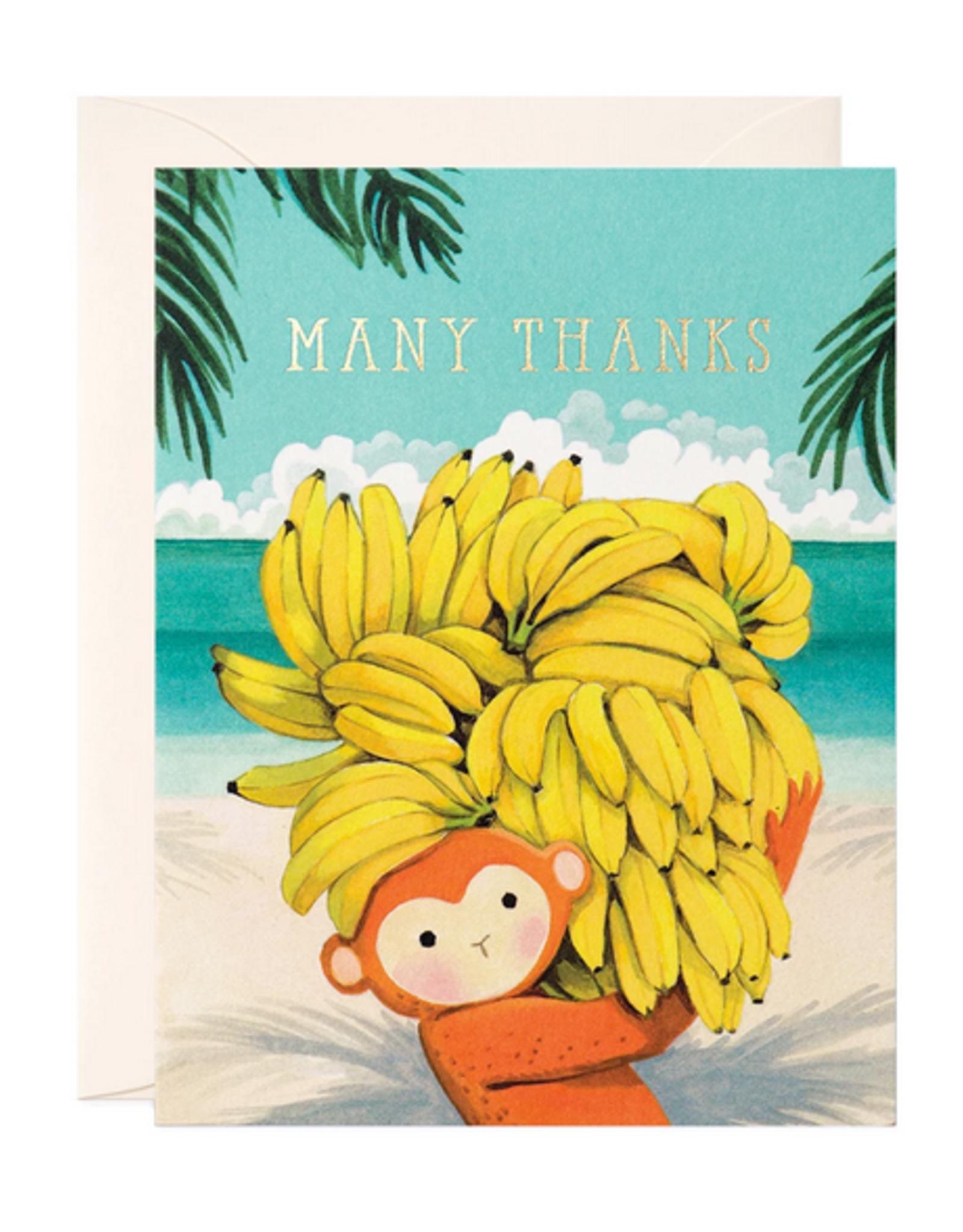 Many Thanks Monkey Greeting Card
