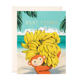 Many Thanks Monkey Greeting Card