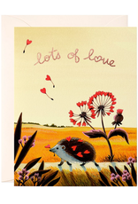 Lots of Love Hedgehog Greeting Card
