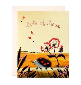 Lots of Love Hedgehog Greeting Card