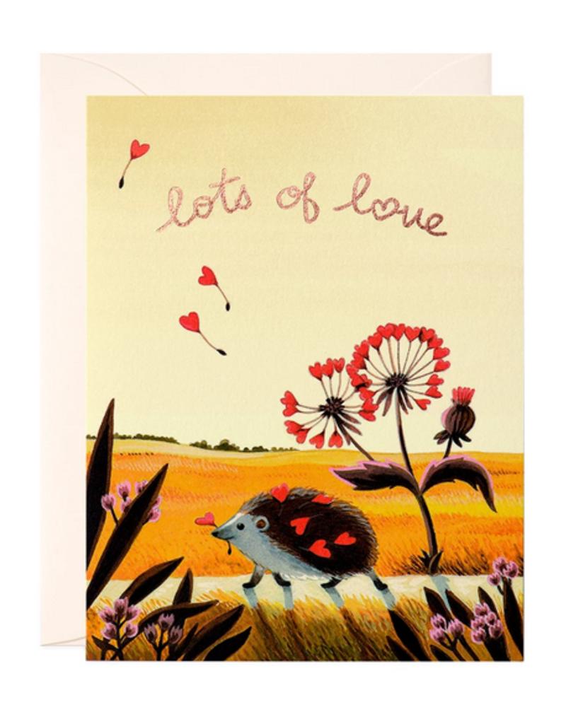 JooJoo Paper Lots of Love Hedgehog Greeting Card