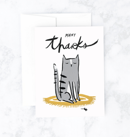 Many Thanks Cat & Mouse Greeting Card