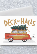 Deck the Halls Tree Toters Greeting Card