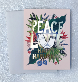 Peace, Love, Happy Hanukkah Greeting Card