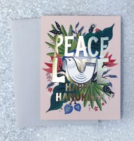 Peace, Love, Happy Hanukkah Greeting Card
