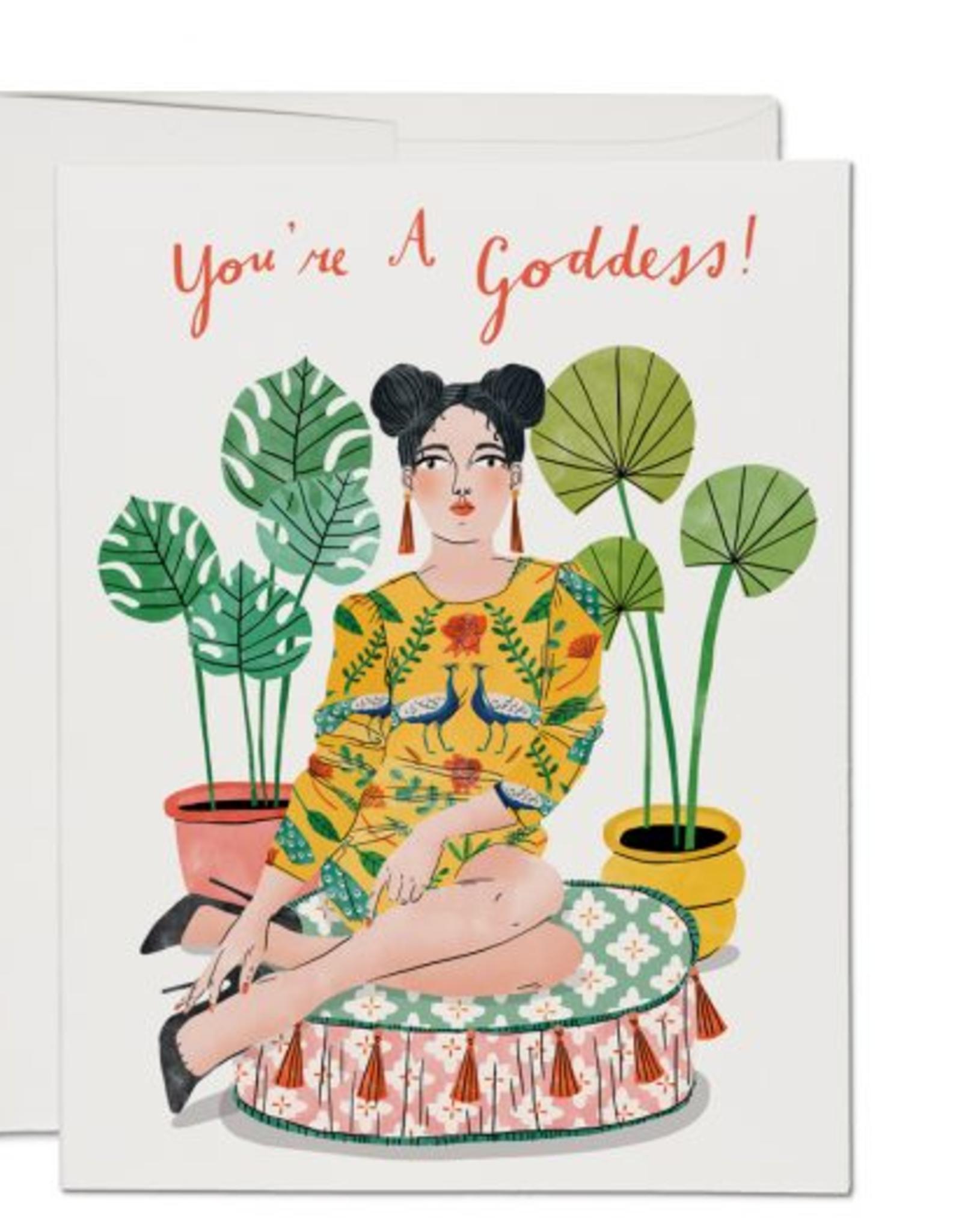 You're a Goddess Cushion Gal Greeting Card