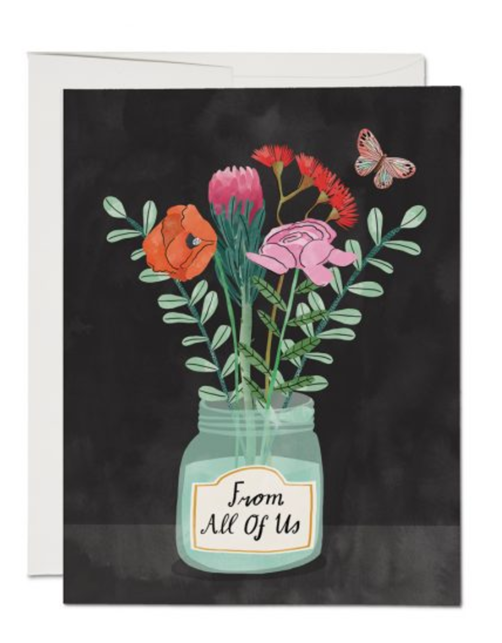 Flowers From All of Us Greeting Card
