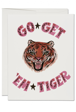 Red Cap Cards Go Get Em Tiger Greeting Card