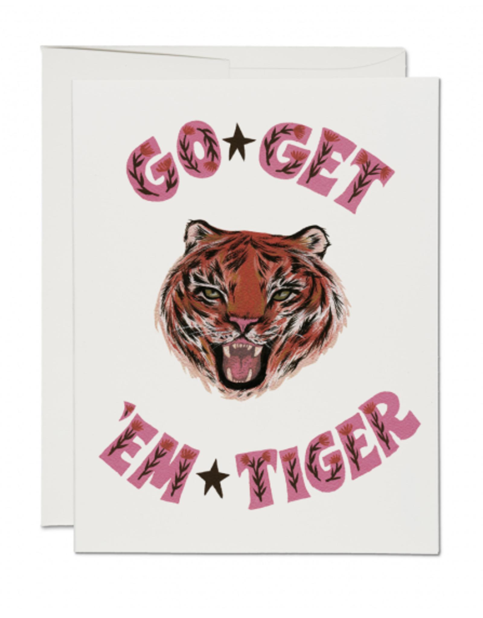 Go Get Em Tiger Greeting Card