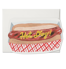 Red Cap Cards Hot Dog! Greeting Card