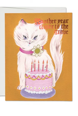 Another Year Closer to the Grave Cat Greeting Card
