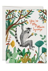 You're My Main Squeeze Lemur Greeting Card