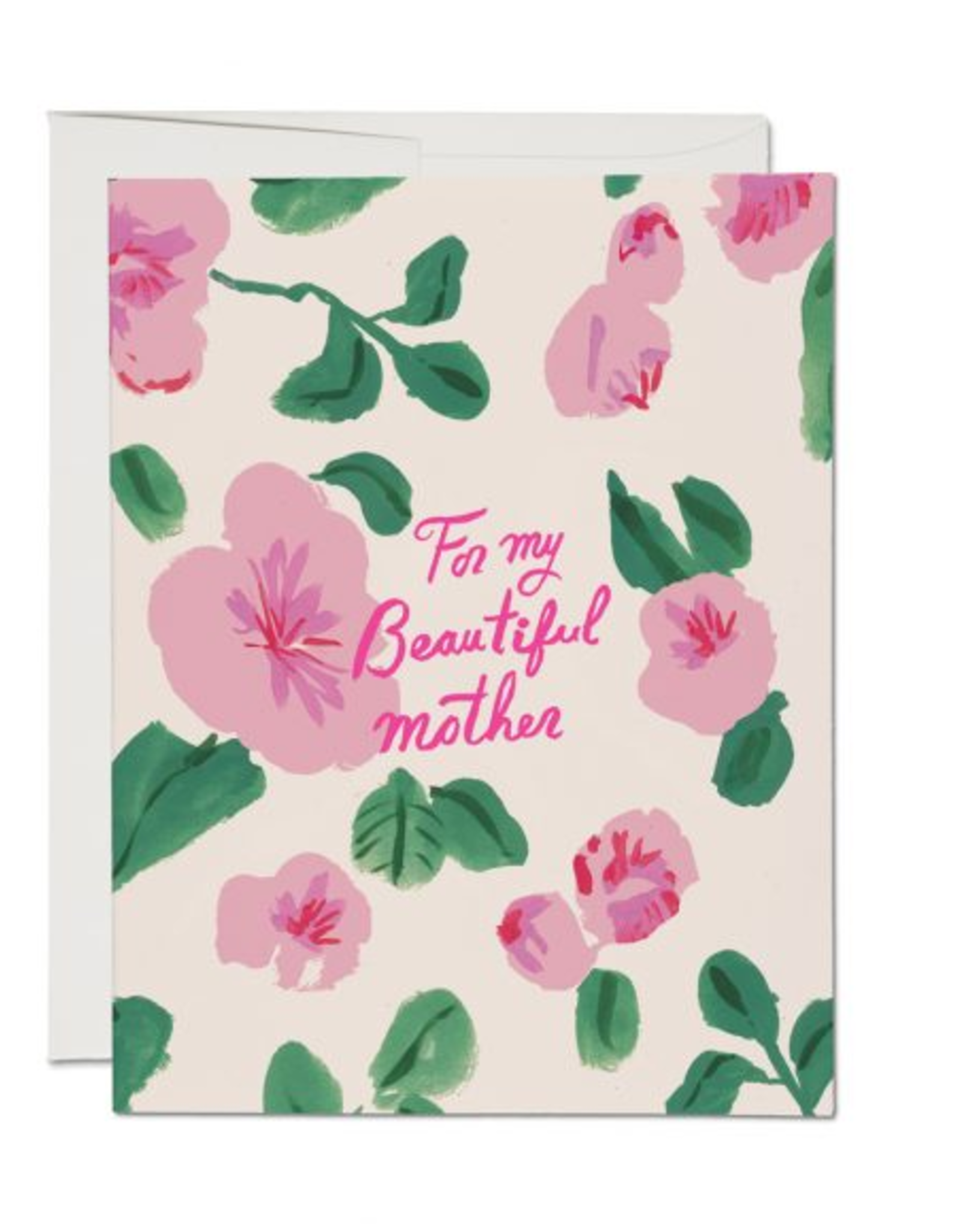 For My Beautiful Mother Floral Greeting Card