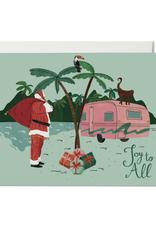 Joy To All Santa Camper Greeting Card