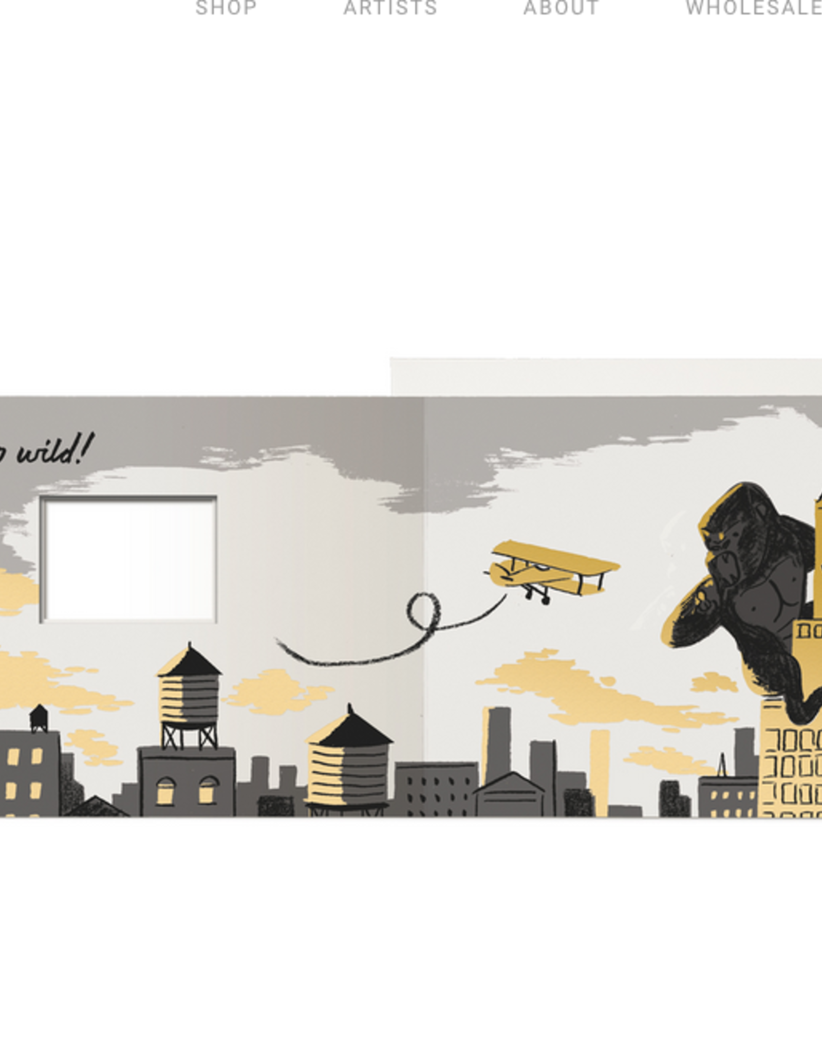On Your Birthday, Go Wild King Kong Greeting Card