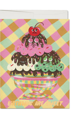 Birthdays are Sweet Cherry Sundae Greeting Card