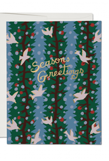 Red Cap Cards Seasons Greetings (Holly Dove) Greeting Box Set