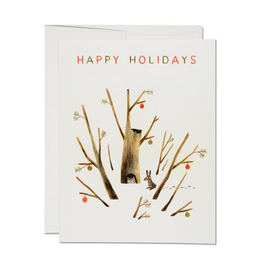 Red Cap Cards Happy Holidays Owl & Rabbit  Box Set