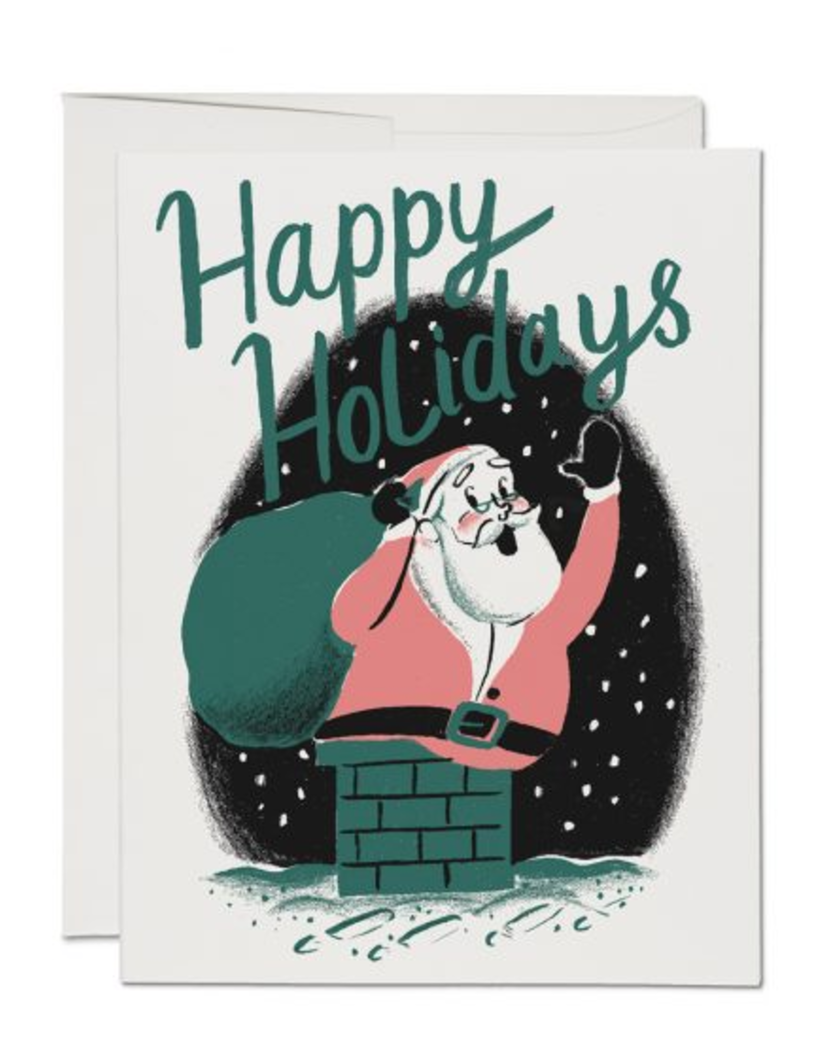 Happy Holidays Santa Chimney Box Set
