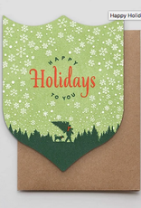 Happy Holidays Timber Greeting Card