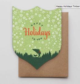 Happy Holidays Timber Greeting Card