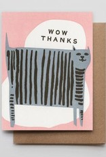 Wow Thanks Cat Greeting Card