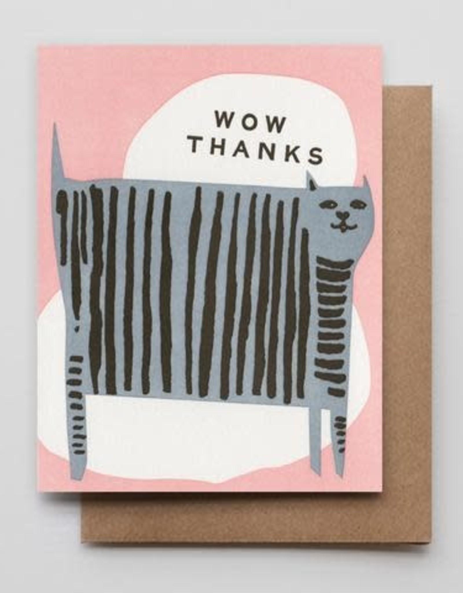 Hammerpress Wow Thanks Cat Greeting Card